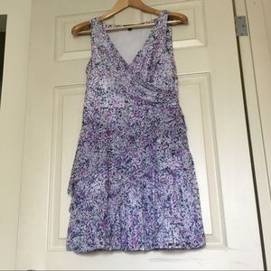 BR floral pleated dress EUC